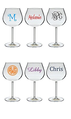 Personalized Reusable Acrylic Wine Glass 20 oz.