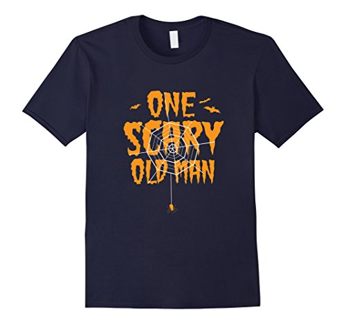 Old Navy Cat Costume (Mens One Scary Old Man T-Shirt Funny Halloween Costume Tee 2XL Navy)