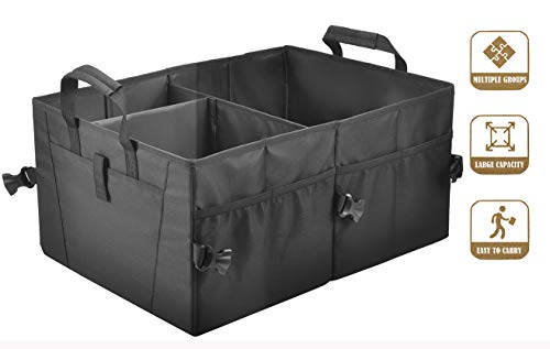 Car Trunk Organizer for Car Suv Trunk Organizers,Collapsible Trunk Cargo Storage Organizer, Car Accessories, Auto Grocery Organize Box, Vehicle Tools or Truck Storage Case. Storage bin (M1)