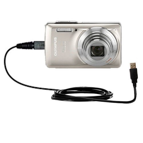 Hot Sync and Charge Straight USB cable for the Olympus Stylus-7030 Digital Camera - Charge and Data Sync with the same cable. Built with Gomadic TipExchange Technology (New Oem Pda Stylus)