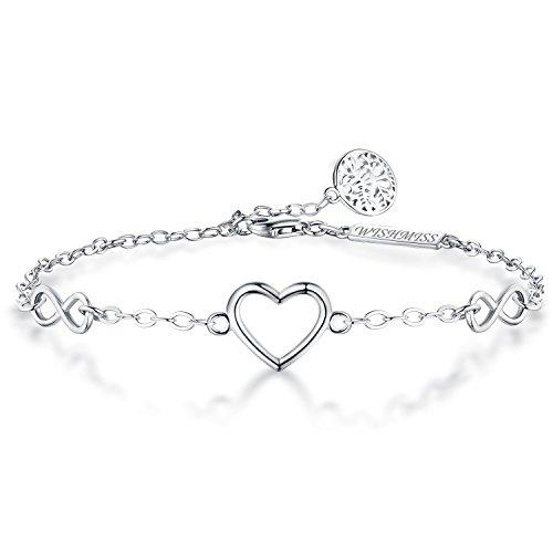 (WISHMISS Sterling Silver Bracelet for Women (Infinity)