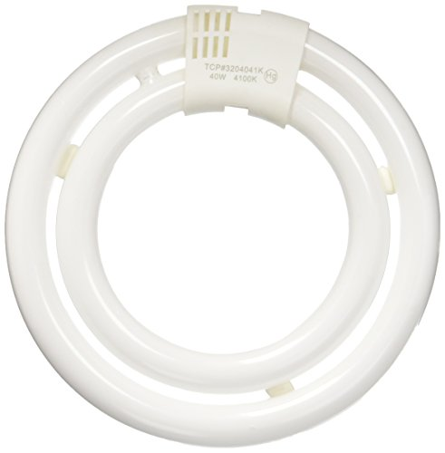 TCP CFL Circle Lamp, 150W Equivalent, Cool White (4100K), T6 Circline Lamp