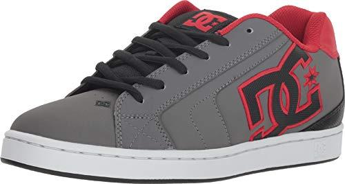 DC Men's NET Skate Shoe, grey/black/grey, 8 D M US