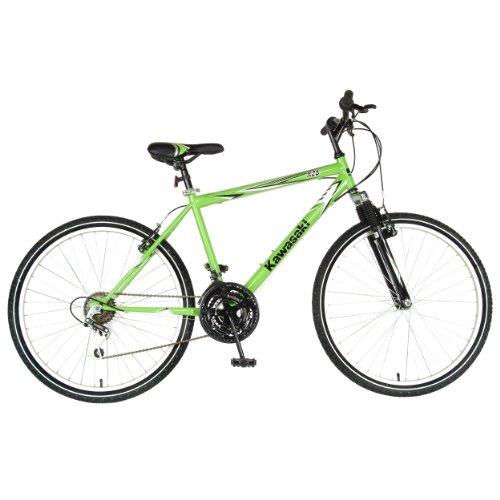 Kawasaki K26 Hardtail Mountain Bike, 26 inch Wheels, 18 inch Frame, Men's Bike, Green