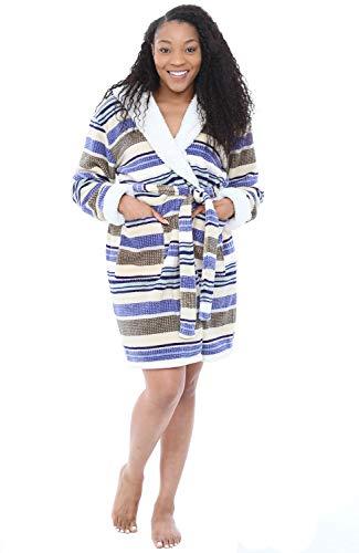 Alexander Del Rossa Womens Short Fleece Hooded ()