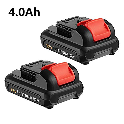 FirstPower 12V 4000mAh Li-lon Battery Replace for DEWALT DC120 12-Volt Max Lithium-ion Battery Better Capacity Suit All DEWALT 12V Power Tools 2 Packs