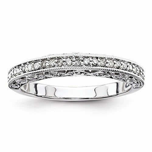 925 Sterling Silver Half Eternity Wedding Band for Women Size 8 (0.25ct, H-SI2) by Diamond2Deal
