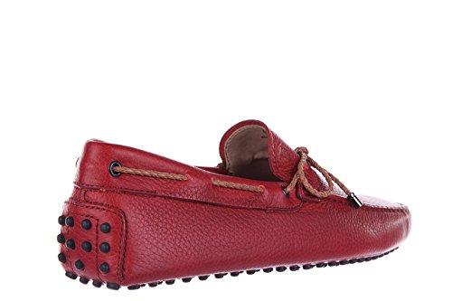 Tod's mocassins homme en cuir laccetto gommini 122 rouge