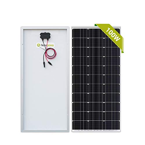 Newpowa 100 Watt Monocrystalline 100W 12V Solar Panel High Efficiency Mono Module RV Marine Boat Off Grid