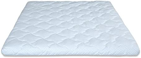 mecor 4 4 inch King Size Gel Infused Memory Foam Mattress Topper-Flat Design Bed Mattress Topper for Side, Back, Stomach Sleepers-CertiPUR-US Certified Blue