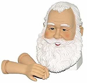 Vinyl Santa Head and Arm Set with Beautiful Detailed Features for Doll Making and Holiday Crafting (Package of 6 Sets)
