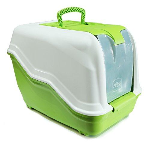 BPS (R) Bandeja Sanitaria Plástica Cerrada Gran Tamaño con Pala Color Verde 65* 40* 50cm BPS-4163-V
