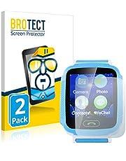 BROTECT 2x Schermbeschermer compatibel met GoClever Kiddy GPS Watch Screen protector transparant
