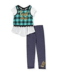 RMLA Big Girls'Plaid Layers 2-Piece Pants Set Outfit