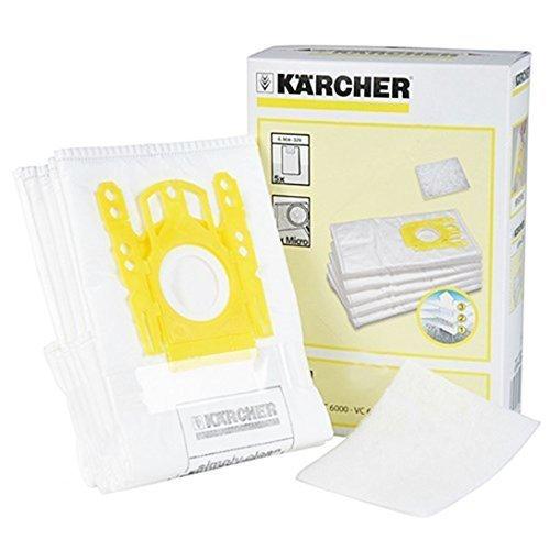Karcher Bag Vacuums - Karcher Vacuum Cleaner Fleece Dust Bags (Pack of 5 + Filter Pad)