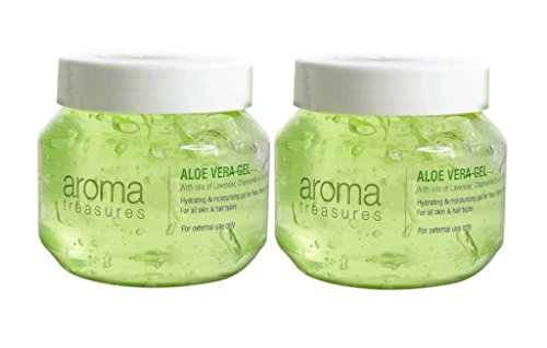 Aroma Treasures Aloe Vera Gel for Hair,Skin & Body (Pack of 2) (125 X 2)