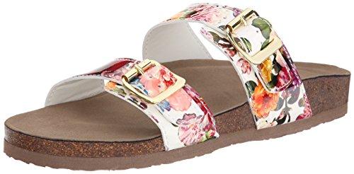 887865298632 - Madden Girl Women's Brando Flip Flop, White/Multi, 7.5 M US carousel main 0