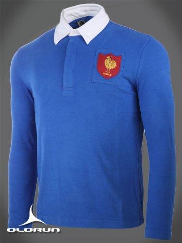 Olorun Autentico Vintage-Maglietta de Rugby de Francia, S-4 X L ...