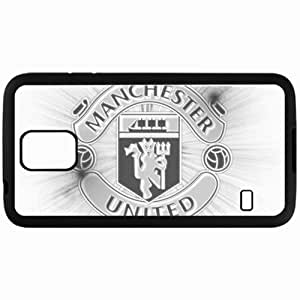 Personalized Samsung S5 Cell phone Case/Cover Skin Logo Of Red Devils Manchester United Football Black