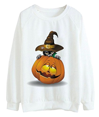 Pumpkin Halloween Sweatshirt for Women Easy Halloween Costumes