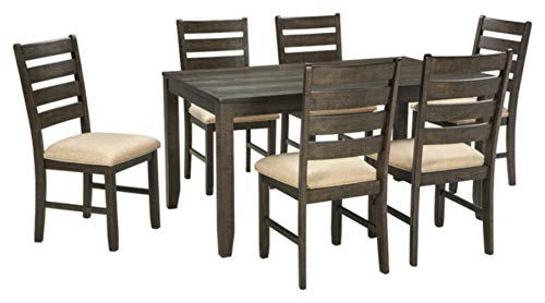 Ashley Furniture Signature Design - Rolena Industrial Dining Set - 7 Piece - Ladder Back - ()