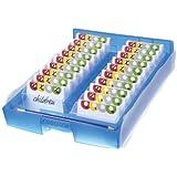 CROCO 2-6-19 Lernkartei A8, inkl. 100 Karten, 19 Kästchen und 1 Bleistift: transluzent blau