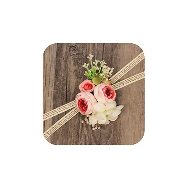 WeddingWrist-Corsages-and-Boutonnieres-Silk-Rose-Corsages-Prom-Long-Ribbon-Artificial-Wrist-FlowersPK