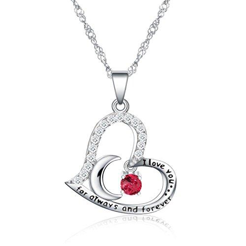 October Birthstone Girl Pendant - October Birthstone Necklace