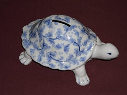 Andrea by Sadek Porcelain Turtle Money Piggy Bank - Money Turtle