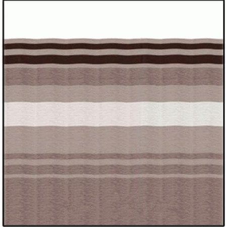 Carefree JU208A00 RV Awning Vinyl Fabric 20FT - Sierra Brown Dune Stripe With White Weatherguard