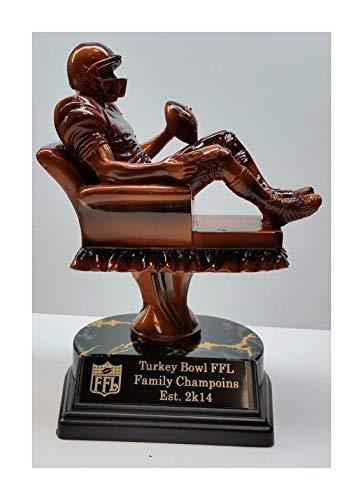 Whops Shop Football Champion Armchair Quarterback Trophy Free Personalized Engraving