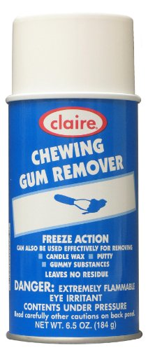 Claire C-813 6.5 Oz. Chewing Gum Remover Aerosol Can (Case of 12) - Cherry Chip Scent Candle