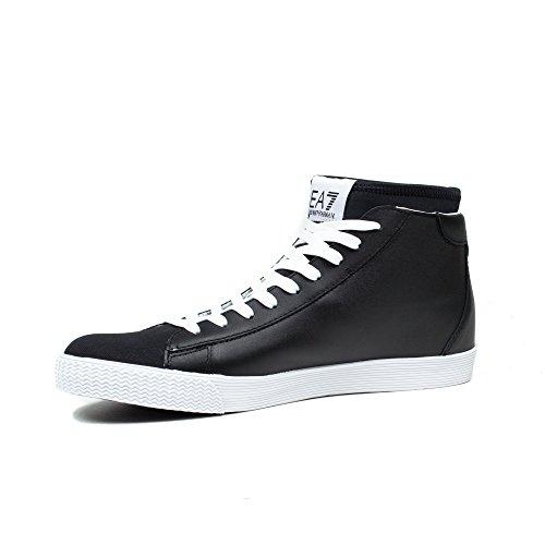 Emporio Armani EA7 zapatos zapatillas de deporte largas hombres en piel nuevo st