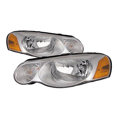 Headlights Depot Replacement for Chysler Sebring Convertible/4-Door Sedan New Headlights Headlamps Set New Pair