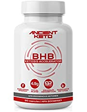 Keto BHB Supplement (90 caps), Exogenous Ketones, Induce Ketosis, Fat Breakdown for Energy, Metabolism, Weight, Focus, Beta Hydroxybutyrate Salts, for Men and Women, Keto Pills, by Ancient Keto
