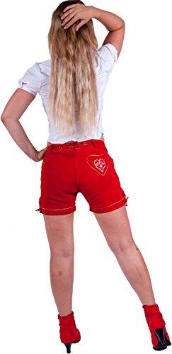 Almwerk En Femme Rouge Cuir Pantalon gwqrUaAg