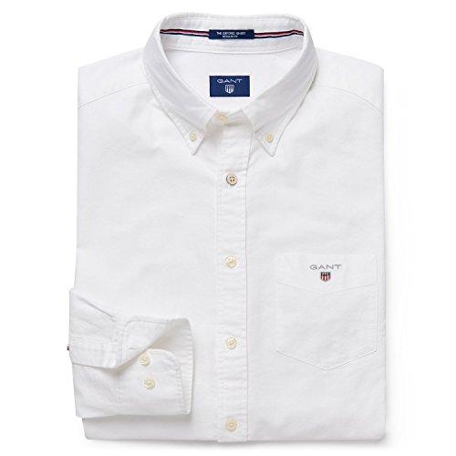 GANT Men's Classic Oxford Shirt, White, XL ()