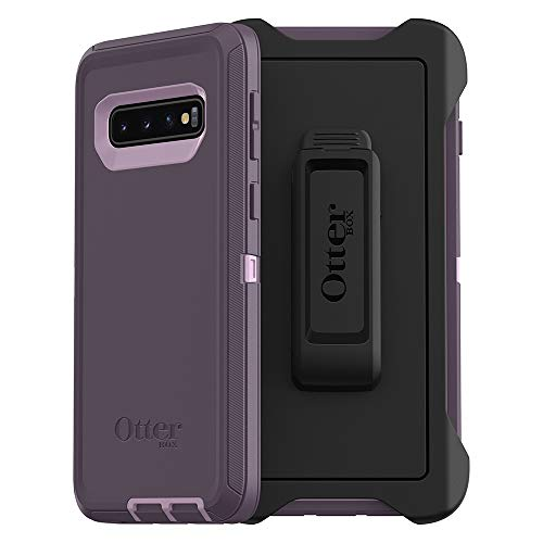 (OtterBox DEFENDER SERIES Case for Galaxy S10 - Retail Packaging - PURPLE NEBULA (WINSOME ORCHID/NIGHT PURPLE))