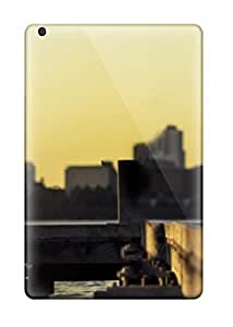 Flexible Tpu Back Case Cover For Ipad Mini/mini 2 - First Kiss Of Bride And Groom Over City Bridge