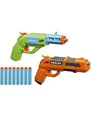 Nerf Roblox Jailbreak: Armory, Includes 2 Hammer-Action Blasters, 10 Nerf Elite Darts, Code To Unlock In-Game Virtual Item