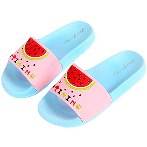 - Anddyam Kids Family Household Sandals Anti-Slip Indoor Outdoor Home Slippers for Girls and Boys (US Little Kid (4-5 Years), Blue Watermelon)