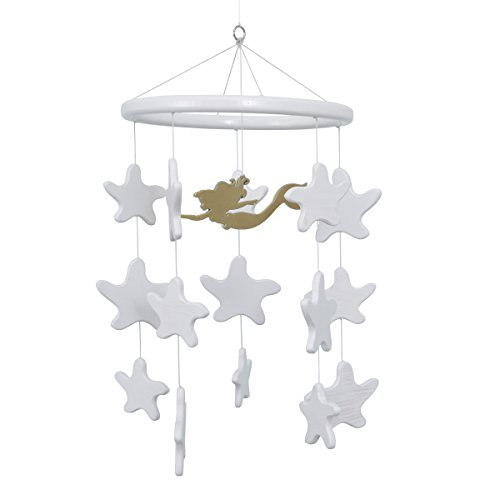 Disney Ariel Sea Princess Ceiling Mobile, White/Gold by Disney
