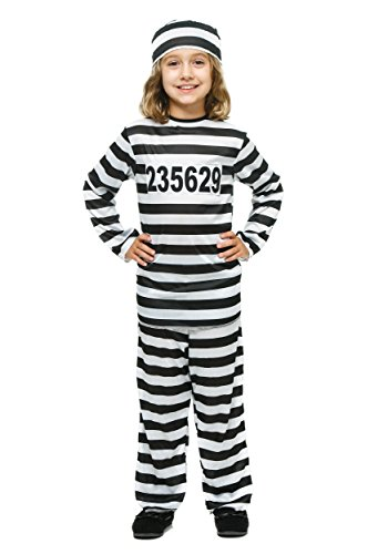 Girl's Prisoner Costume Small