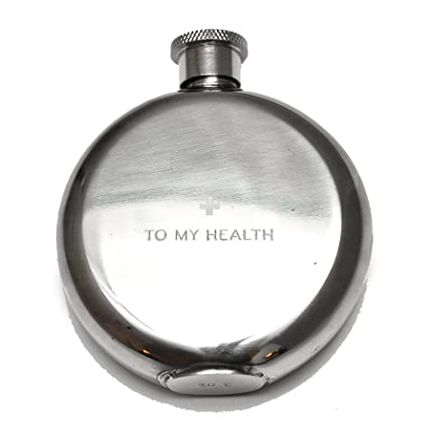 Izola Oval Compact Petit Stainless Steel Travel Flask (Dodge Night Runner)