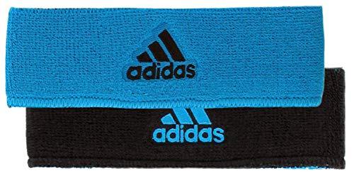 adidas Unisex Interval Reversible Headband, Solar Blue/Black, ONE SIZE (Orange Adidas Baby)