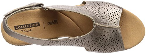 Pewter Metall Modelo pewter Color Rosen Mujer Mujer Marca Zapatos De Cordones Clarks Gris Para Clarks Lafley Gris OCngwSqHx