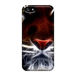 Blowery Case Cover Protector Specially Made For Iphone 5/5s Tiger Fractal