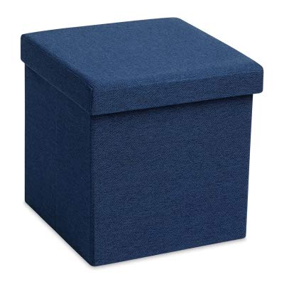 Poppin, Navy, Box Seat (101879) Gray/Silver by Poppin
