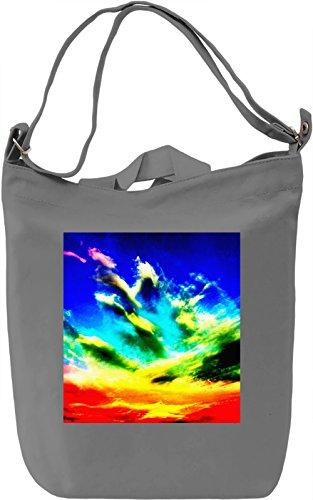 Colorful Sky Pattern Borsa Giornaliera Canvas Canvas Day Bag  100% Premium Cotton Canvas  DTG Printing 