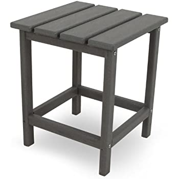Exceptional POLYWOOD ECT18GY Long Island Side Table, 18 Inch, Slate Grey